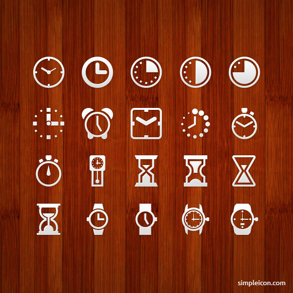 Clock and Watch icons