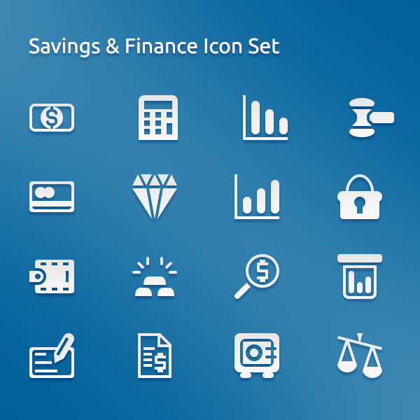saving and finance psd icon set free icons